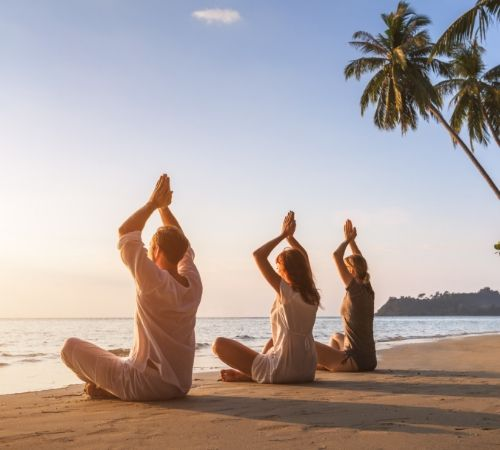 Yoga In Goa Beach